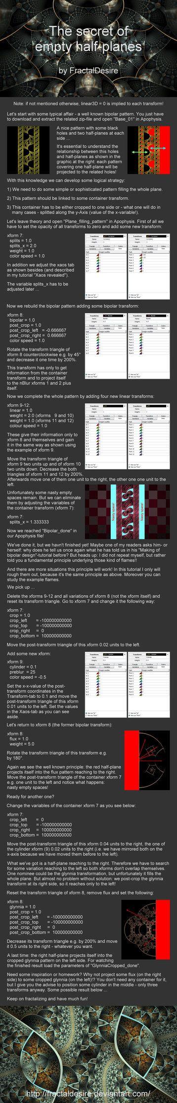 10 best apophysis images on pinterest fractal art fractals and tutorial the secret of empty half planes by fractaldesire visionary artfractal baditri Gallery