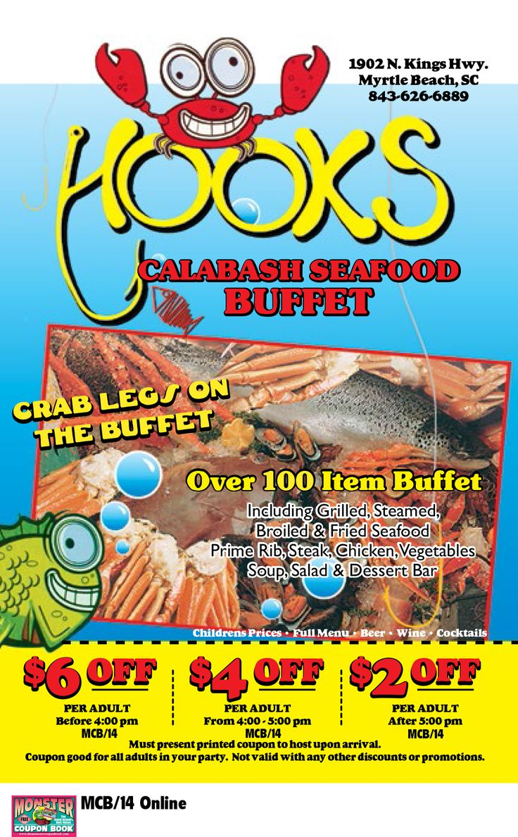 hooks calabash seafood myrtle beach coupon Hook's calabash seafood: great seafood buffet - see 329 traveler reviews, 16 candid photos, and great deals for myrtle beach, sc, at tripadvisor.