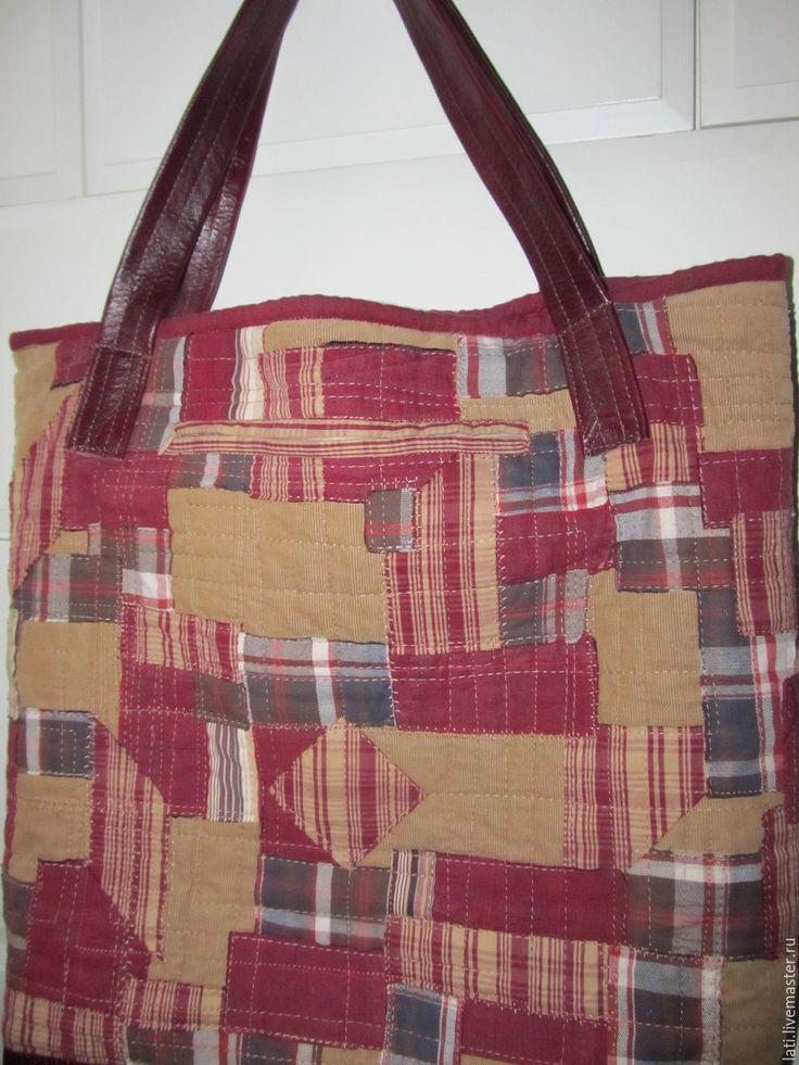 Купить Сумка большая лоскутная - сумка шоппер, большая сумка, текстильные сумки, лоскутные изделия