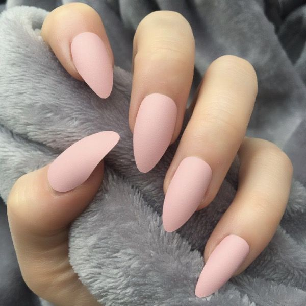 Different Designs Of Stunning Almond Long White Nails Baby Pink Nails Matte Nails Design Trendy Nails