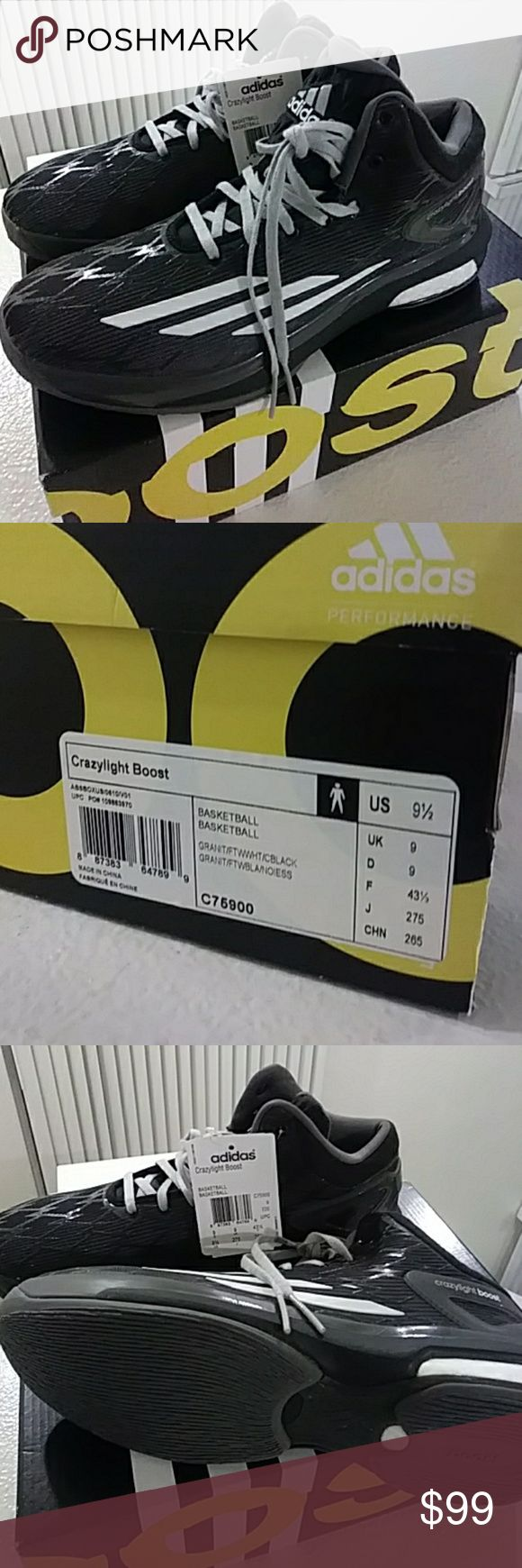 Adidas Basketball Shoes Crazylight Boost Brand New with tags, size 9.5 Men US adidas Shoes Athletic Shoes