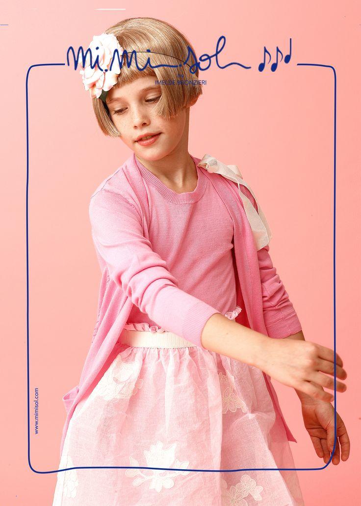 """What a wonderful rosebud!"" said Mom looking at me... #MiMiSol #imeldebronzieri #childrenswear #springsummer2014 #SS14 #pink #ceremony #dress #rosebud #lightness #fashion #kids"