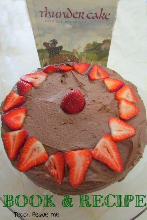 Thunder cake book recipe. Sub puréed strawberries for tomatoes
