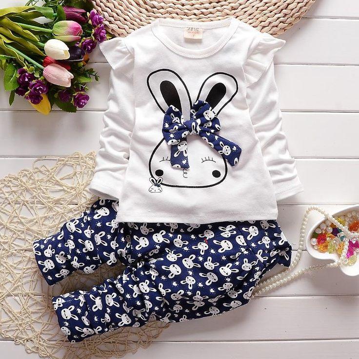 Ucuz Kızlar giyim Sonbahar Bahar Bebek Kız Giyim Setleri Bunny Yay T Shirt + karikatür pantolon çocuk Giyim bebek çocuk giyim, Satın Kalite Giyim Setleri doğrudan Çin Tedarikçilerden: Kızlar giyim Sonbahar Bahar Bebek Kız Giyim Setleri Bunny Yay T Shirt + karikatür pantolon çocuk Giyim bebek çocuk giyim