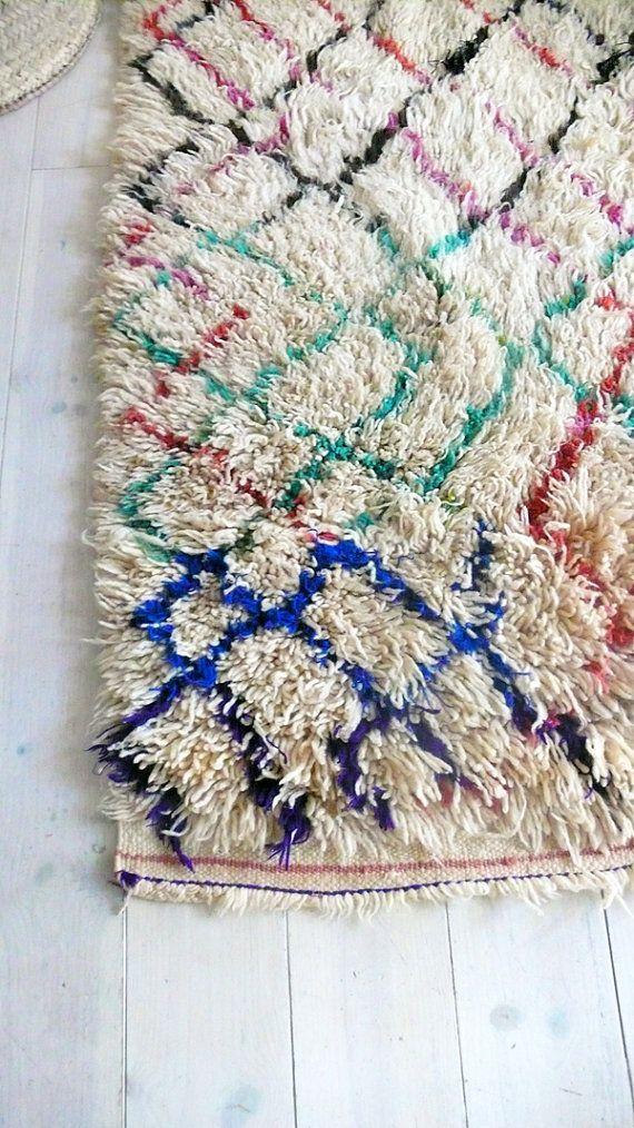 Vintage Moroccan Rug Natural virgin wool AZILAL por lacasadecoto