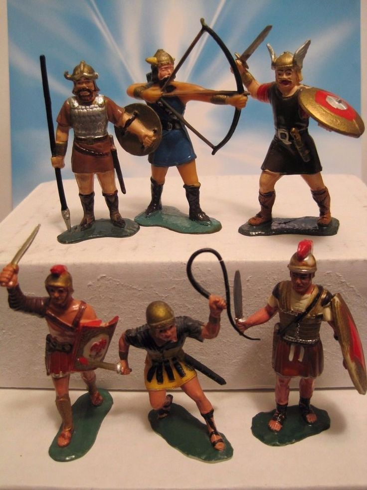 MARX WARRIORS OF THE WORLD CASTLE PLAYSET ROMAN VIKING 60MM PLASTIC TOY SOLDIER #MARX