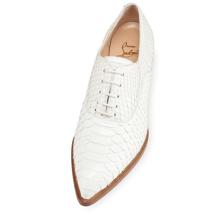 ce18ed5fdd133 Zazou Flat Glacier Python - My ideal work place shoe ! Louboutin