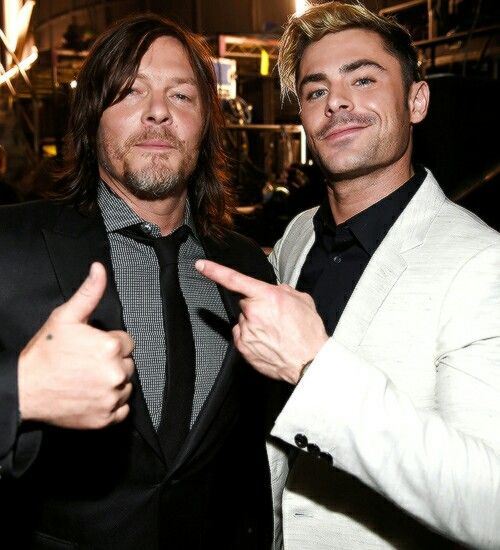 Norman Reedus and Zac Efron 2016