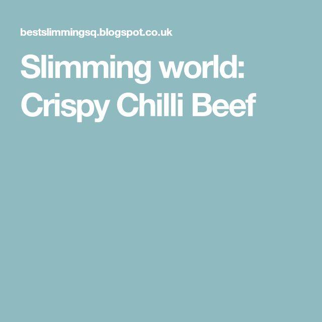 Slimming world: Crispy Chilli Beef