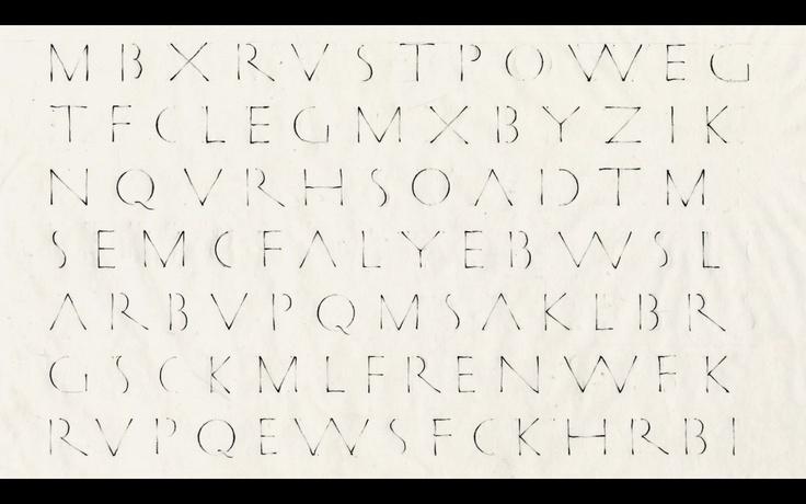 Classical Roman letter. Screen shot taken from Inge Druckrey 'Teaching to See' (http://vimeo.com/45232468)