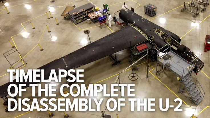 Timelapse of the Process of Technicians Disassembling & Reassembling an Entire U-2 Spy Plane