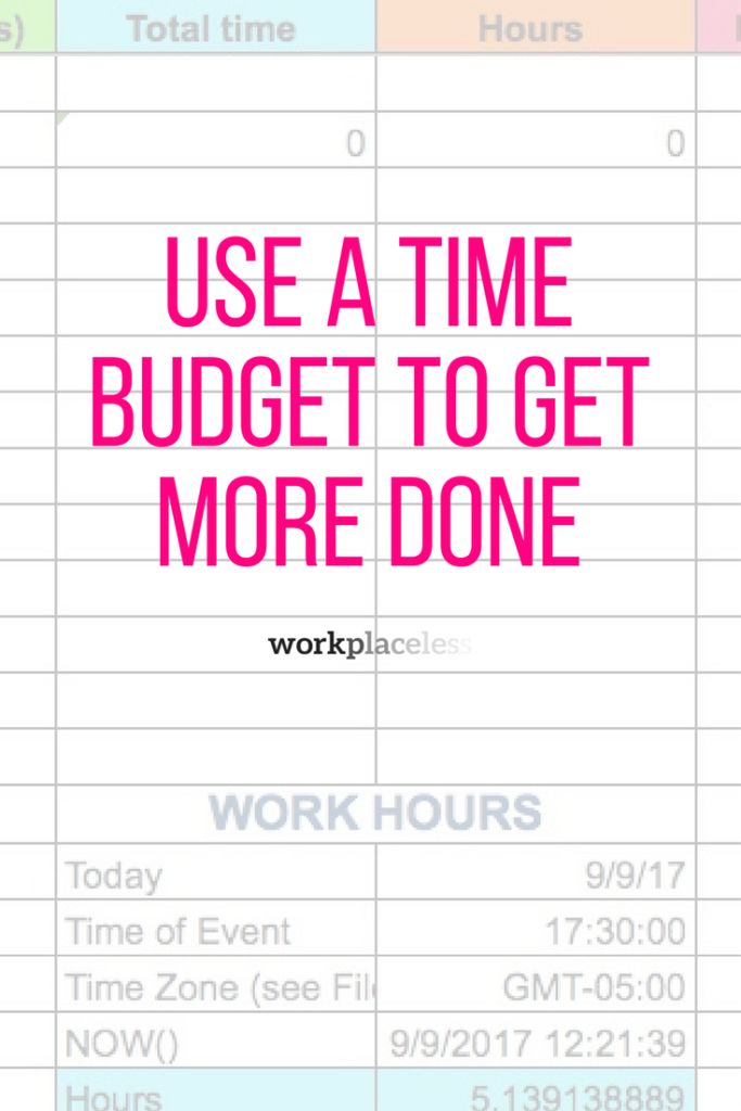 how to create a time phased budget in excel