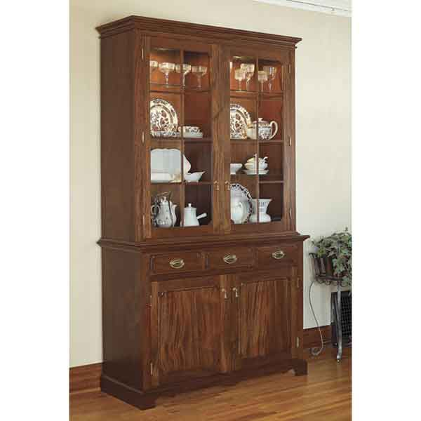 Heirloom china cabinet woodworking plan diy pinterest for Wood hutch plans