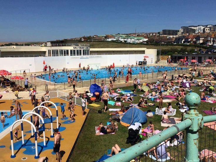The Lido in Saltdean Brighton East Sussex England