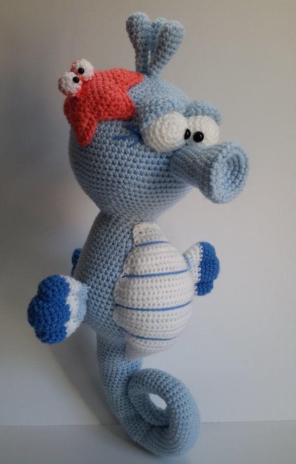 "Häkelanleitung Seepferdchen ""Blue"", Amigurumi"