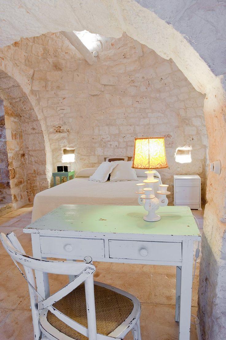 Masseria Cervarolo, Ostuni, 2010 #italy #puglia #stone #trulli #interiors #design