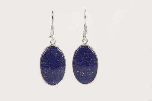 Earrings E00029 Silver 925° stone Lapis Lazouli