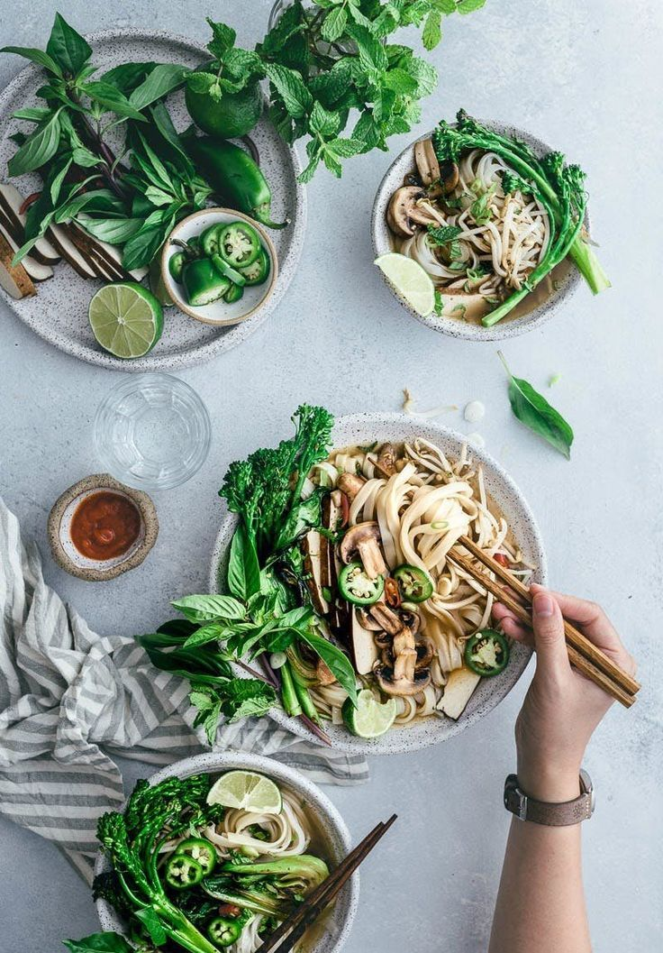 Learn how to make Vegetarian Pho Noodle Soup with this healthy fall recipe.