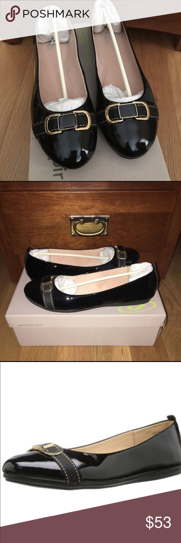 Gorgeous Shiny Flats Beautiful flats by Easy Spirit, a brand known for comfort and style. Perfect for any occasion dressed up or down & surely would look cute with your favorite pair of jeans. Brand New in box. Easy Spirit Shoes Flats & Loafers