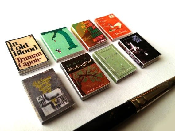 In Cold Blood Truman Capote dollhouse miniature book