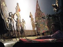 Javanese wayang kulit puppetry performance