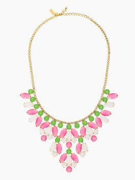 Kate Spade.: Jewelry Statement, Marquee Statement, Color, Necklaces 138, Pink Statement Necklaces, Necklaces 198, New York, Marque Statement, Kate Spade