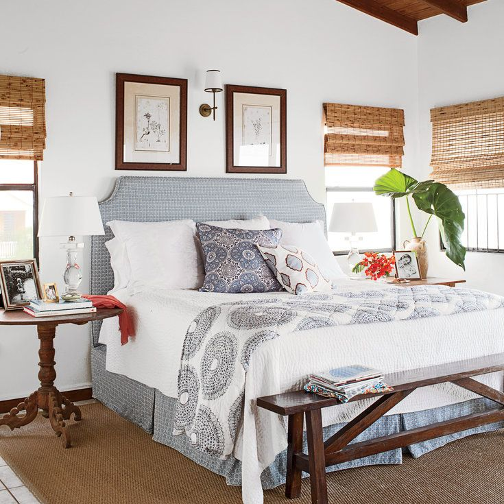 Soothing Master Bedroom - 20 Beautiful Beach Cottages - Coastal Living
