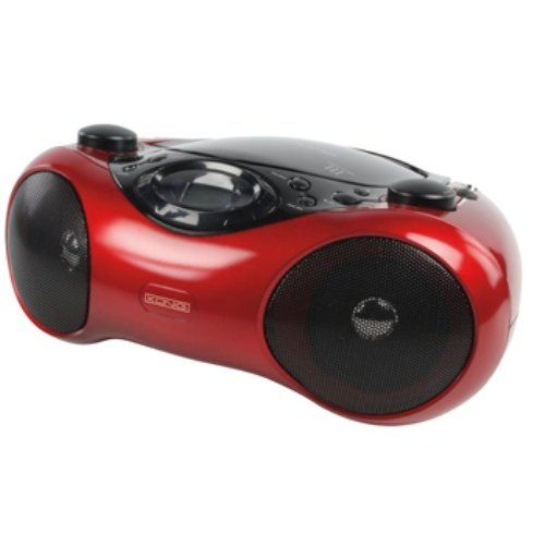 Konig 230x145x315mm Portable Radio CD Player with LCD Display Compatible with CD/CD-R/CD-RW/MP3 - Red: Amazon.co.uk: Audio & HiFi