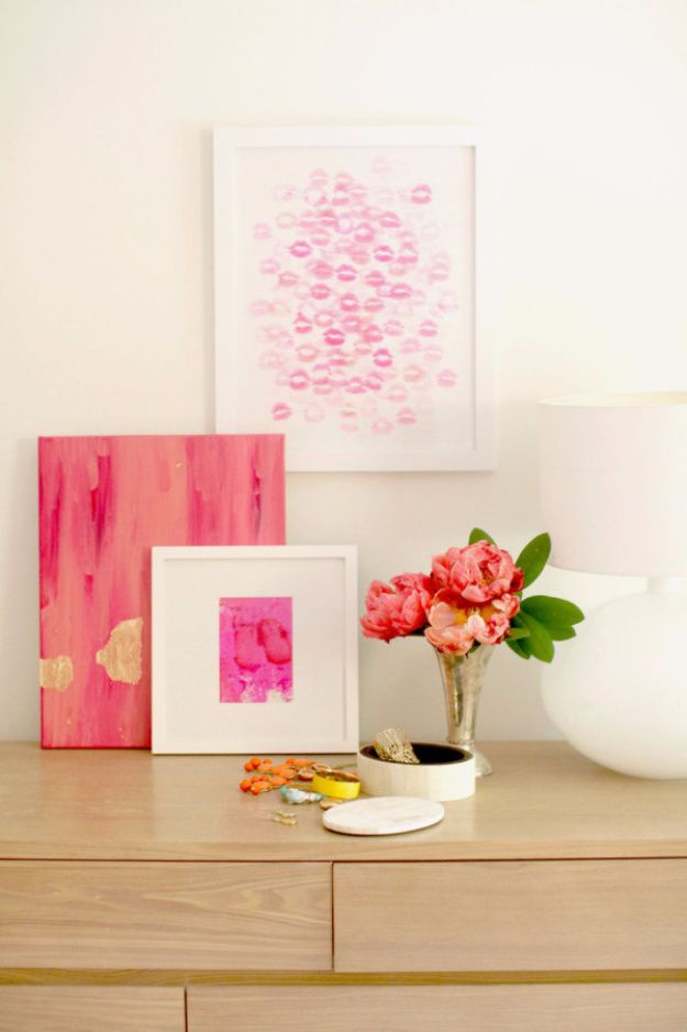 Last Minute DIY Gifts For Your Valentine: DIY Kiss Artwork