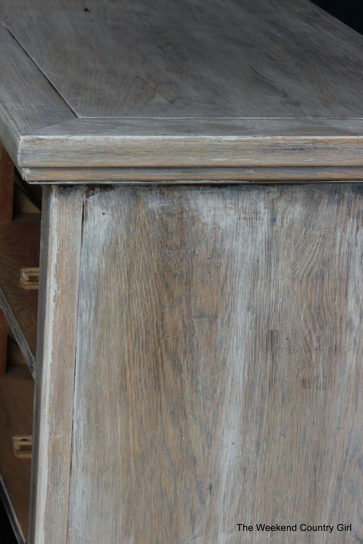 Refinishing a wood bathroom vanity part 1 preparation amp stripping - Create A Rustic Look With Wood Stain 03 By The Weekend Country Girl On Remodelaholic