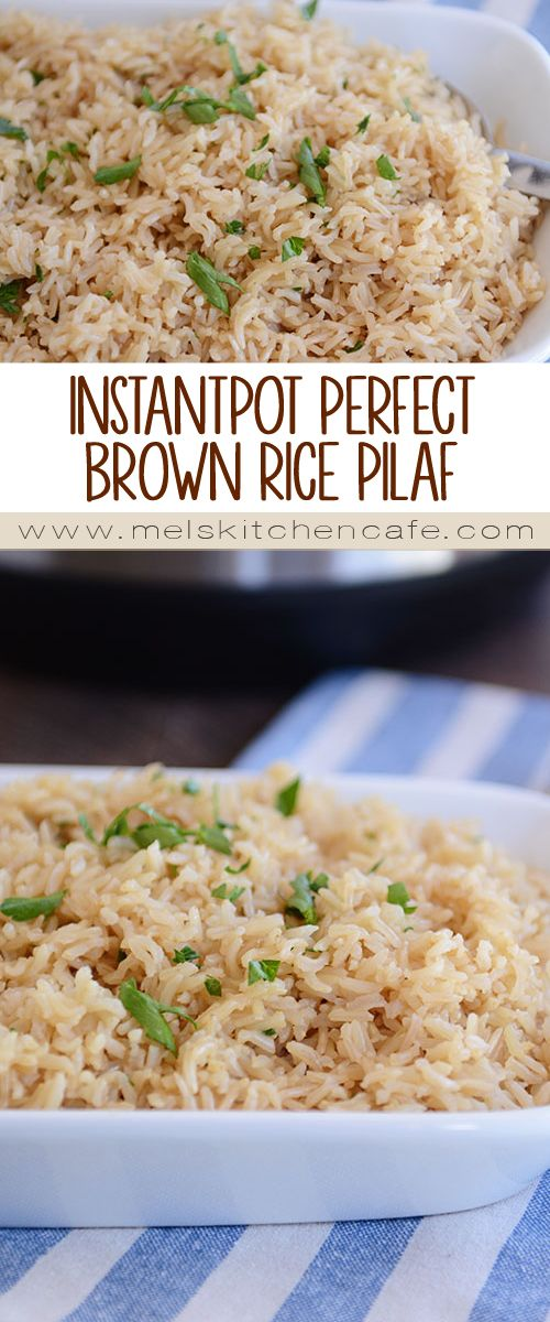 InstantPot Perfect Brown Rice Pilaf
