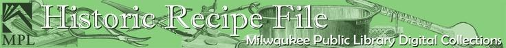 Recipe Database from Milwaukee Journal/Sentinel (1960s-80s)