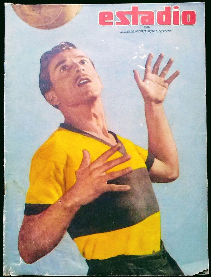 Alejandro Rodriguez of Ferro Badminton of Chile on the cover of Estadio magazine in 1958.