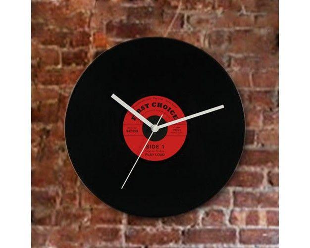 Reloj De Pared Disco Vintage - http://regalosoutletonline.com/tienda/decoracion/reloj-de-pared-disco-vintage