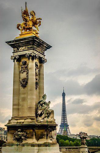 Paris France – Pont Alexandre and Eiffel Tower