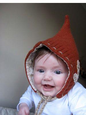 Big Little: Oak Leaf Pixie Hat Pattern  baby kids toddler hat elf cute sew diy