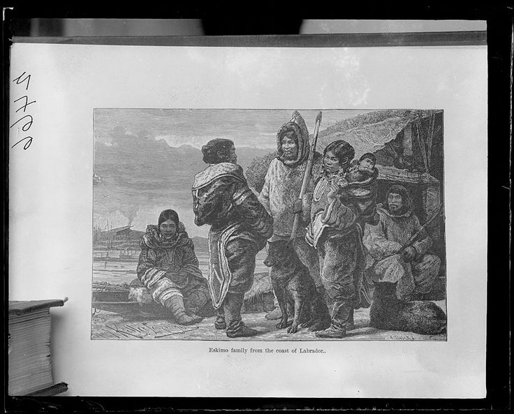 Family from coast of Labrador, around 1880 (ressemblance with some photos of Abraham's group are striking)