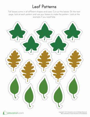 printable leaf patterns printables for kids pinterest pattern worksheet printable leaves. Black Bedroom Furniture Sets. Home Design Ideas