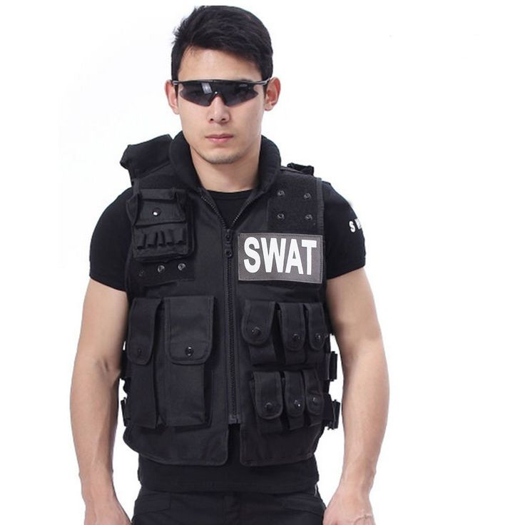 Security Vest, Lalawow Tactical Vest Gun Holsters 600D Nylon Airsoft Modular SWAT Vest 12 Pockets (Black, M:21.7 inches Length), Holsters - Amazon Canada
