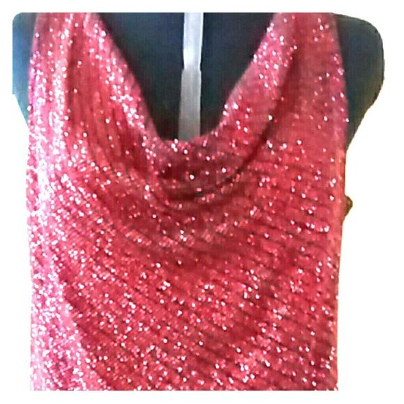 !!!!HP!!!! Sparkly top Black, red, sparkly. Ready to rock your party! MSK Tops