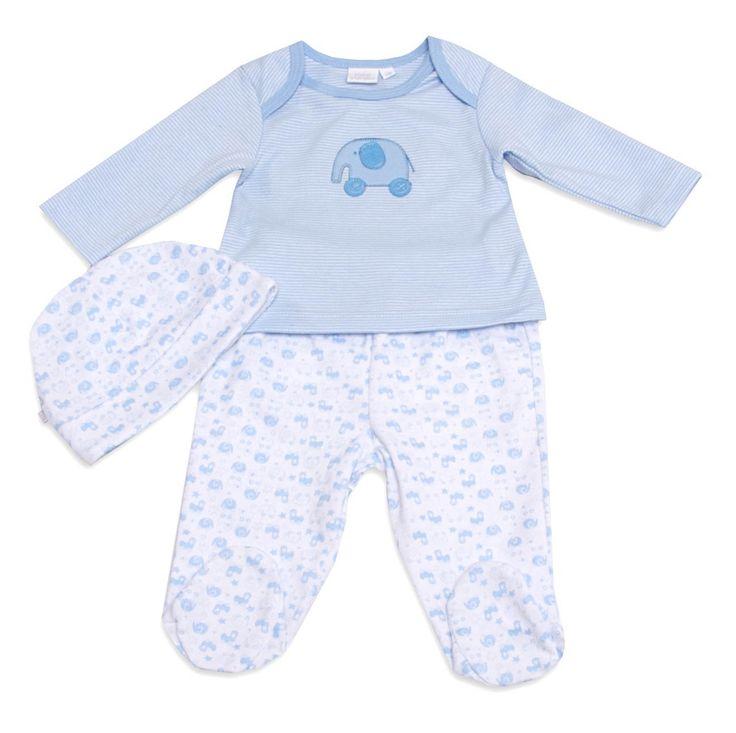 Mini Vanilla Baby Boy Sleepsuit