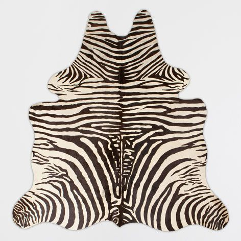 Zebra Printed Leather Rug - Rugs - Decoration | Zara Home Norway
