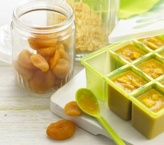 Delicious Apricot Chicken & Sweet Potato baby food, try making this apricot baby food at home.