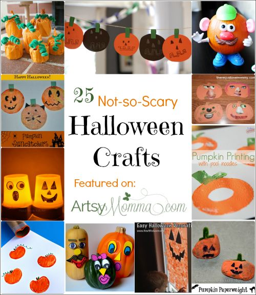 25 Not-so-Scary Halloween Crafts for Kids