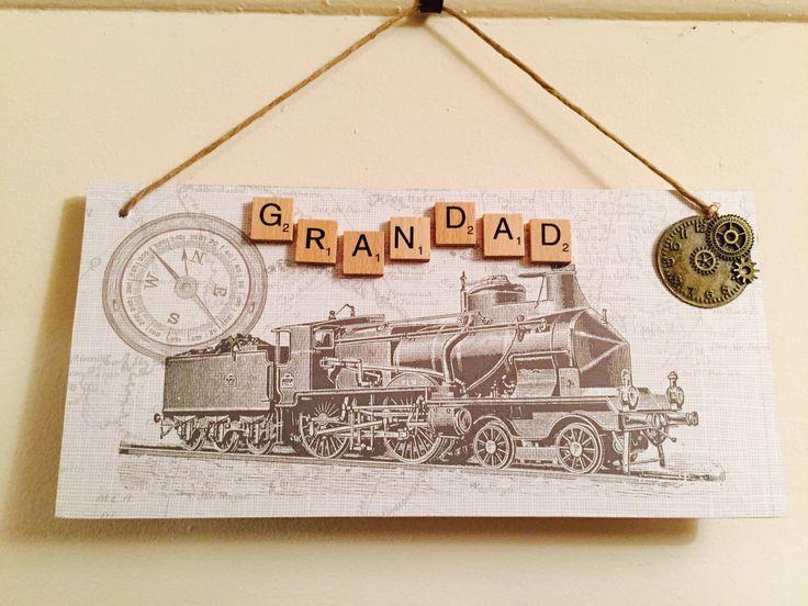 Handmade plaque for Grandad /Dad by EveAmberLay on Etsy https://www.etsy.com/uk/listing/294426221/handmade-plaque-for-grandad-dad