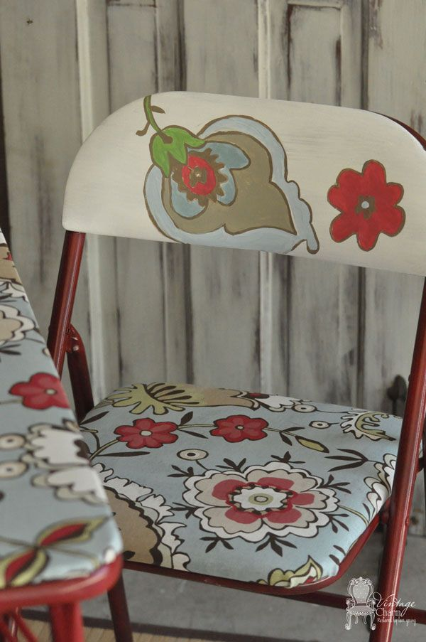 Makeover a Card Table Using a Spray Paint, Shower Curtain, & Mod Podge  www.driscollpm.com