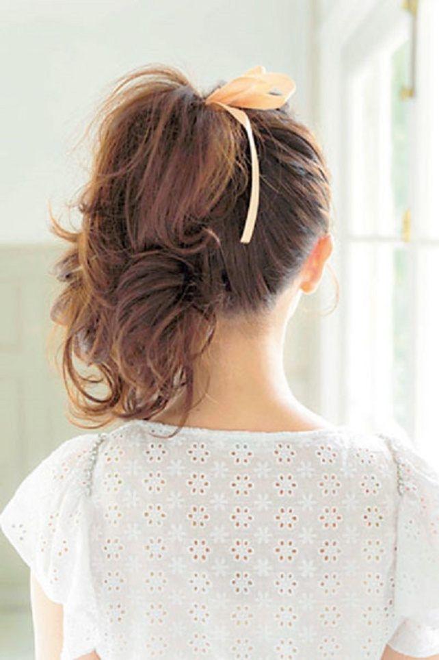 back/ふわふわちょいサイドポニー