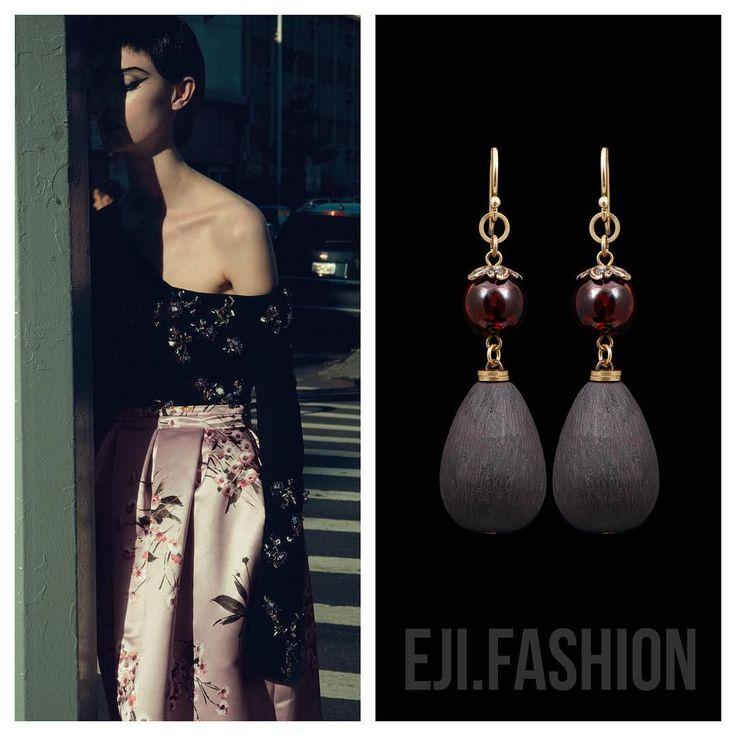53 отметок «Нравится», 2 комментариев — EJI.FASHION – Bijoux de Luxe (@eji.fashion) в Instagram: «Серьги @eji.fashion  янтарь, гагат, латунь, золото 18ct #украшения #ejifashion #handmade…»