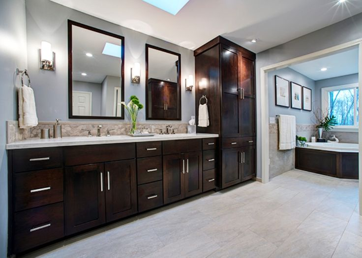 Double Vanity With Linen Tower Http Www Omalleyspdx