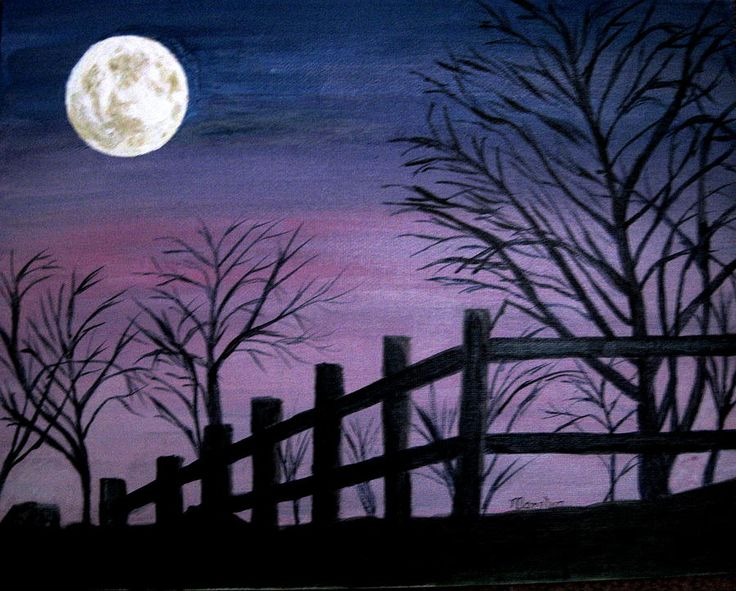 Full Moon Painting  - Full Moon Fine Art Print
